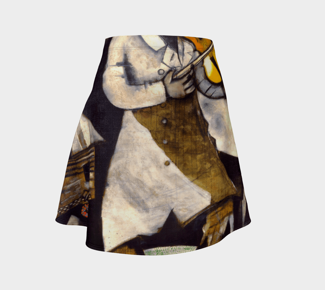 Chagall Dragon Fiddler On The Skater Skirt