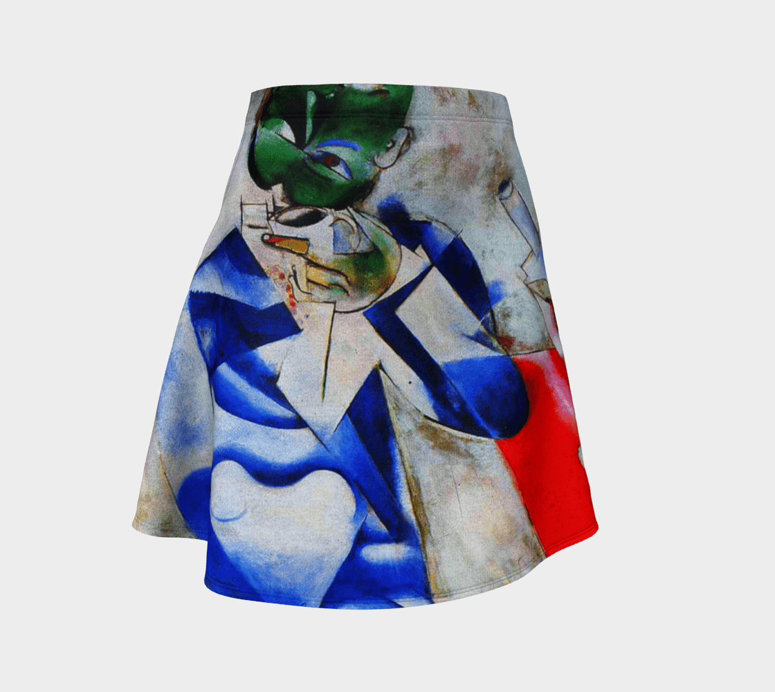 Chagall Dragon Half Past Three Skater Skirt
