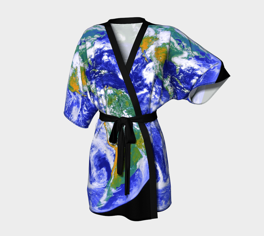 Planet Dragon Wearin' The World Kimono Robe