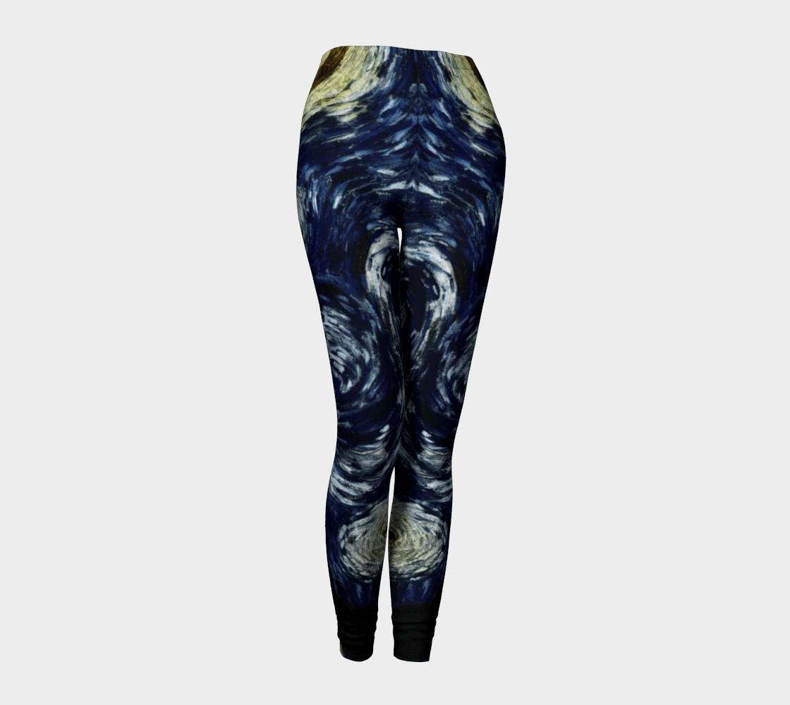 Comet Dragon Starry Night Light Year Leggings