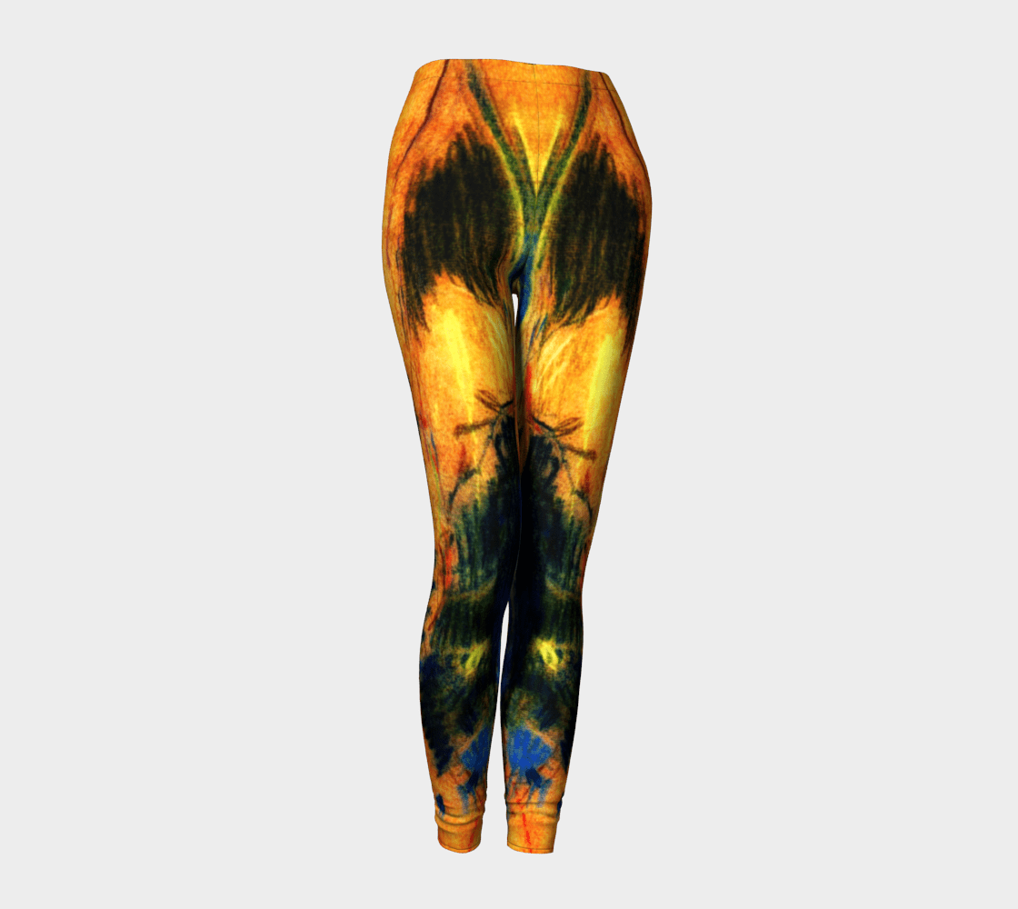 Athleisure Dragon Butterfly Wings Leggings