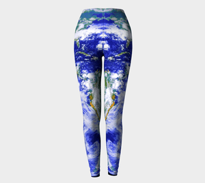 Planet Dragon Symmetry In Ocean Motion Leggings