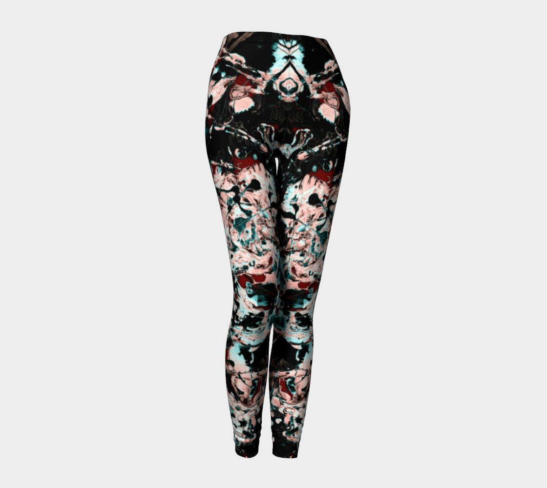 Jackson Dragon Paint Spatter Pulchritude Leggings