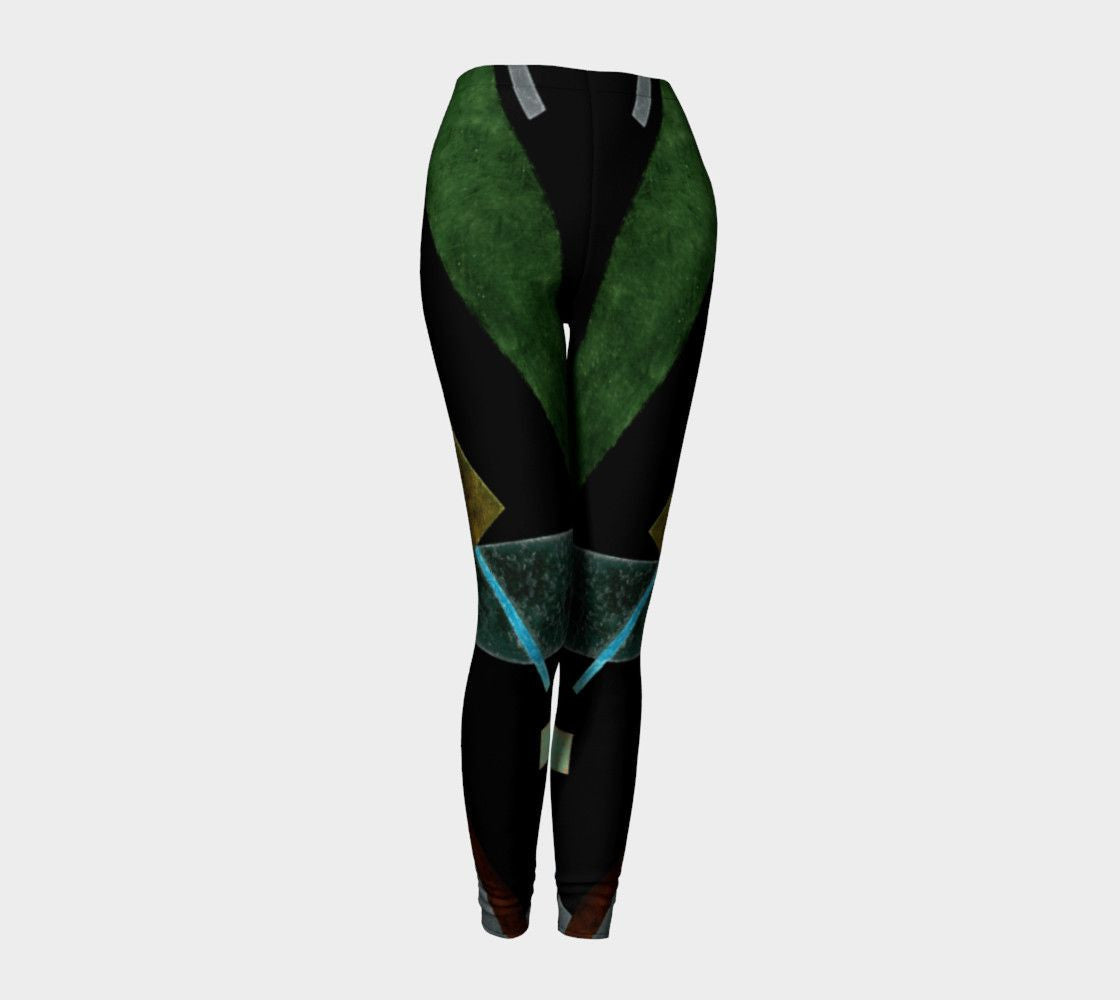 Asymmetrical Dragon Distracting Abstraction Leggings