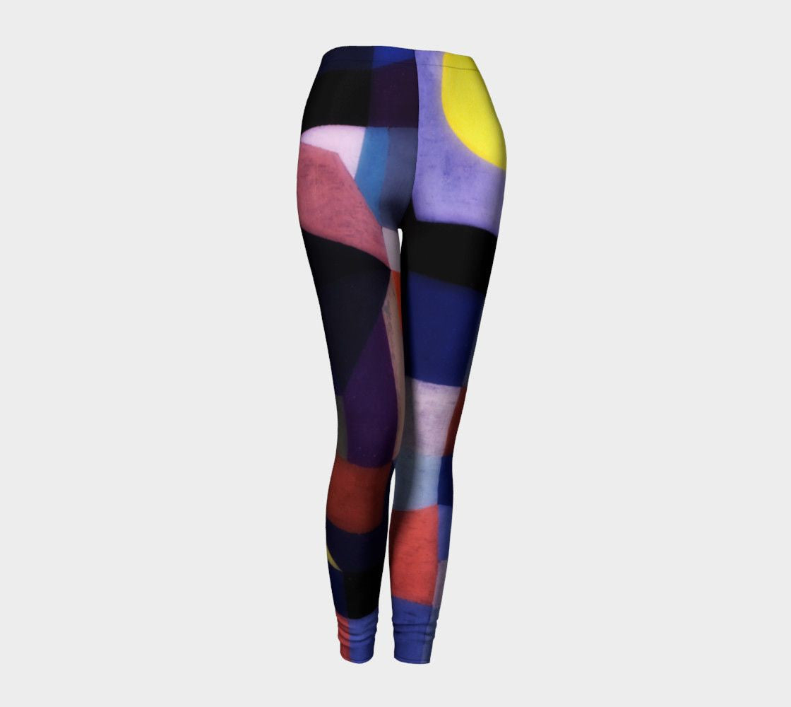 Abstract Dragon Super Heroine Look Leggings