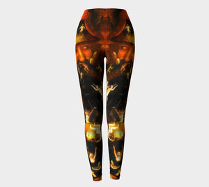 Hieronymous Dragon Is It Hot In Hell Or Is It Just Me Leggings