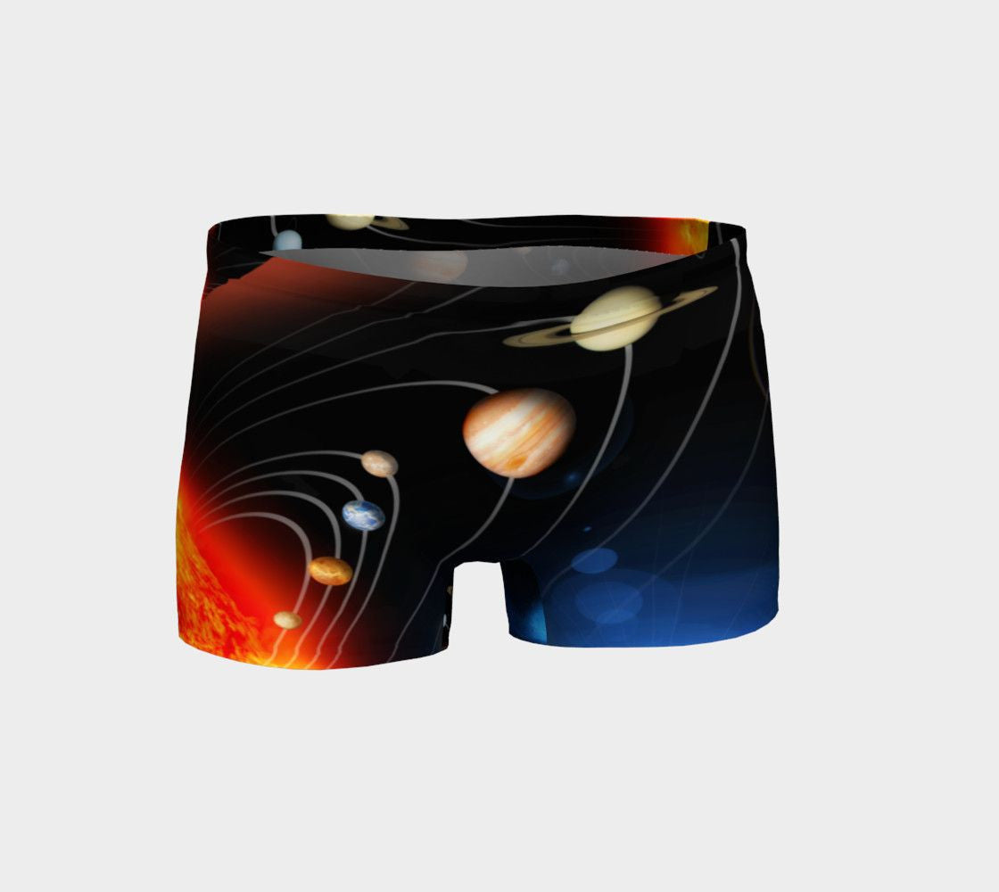 Planet Dragon Solar System Space Girl Short Shorts