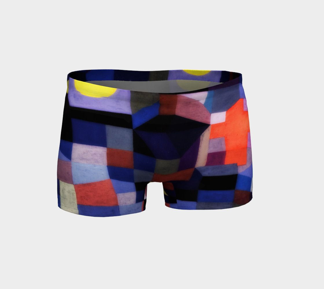 Abstract Dragon Patchwork Quilt Short Shorts