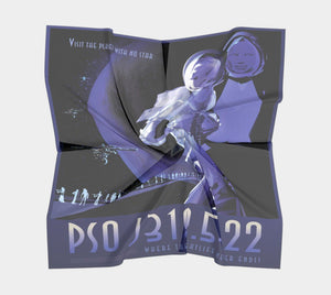 Cassini Dragon My Kinda Planet Space Girl Skirt/Scarf