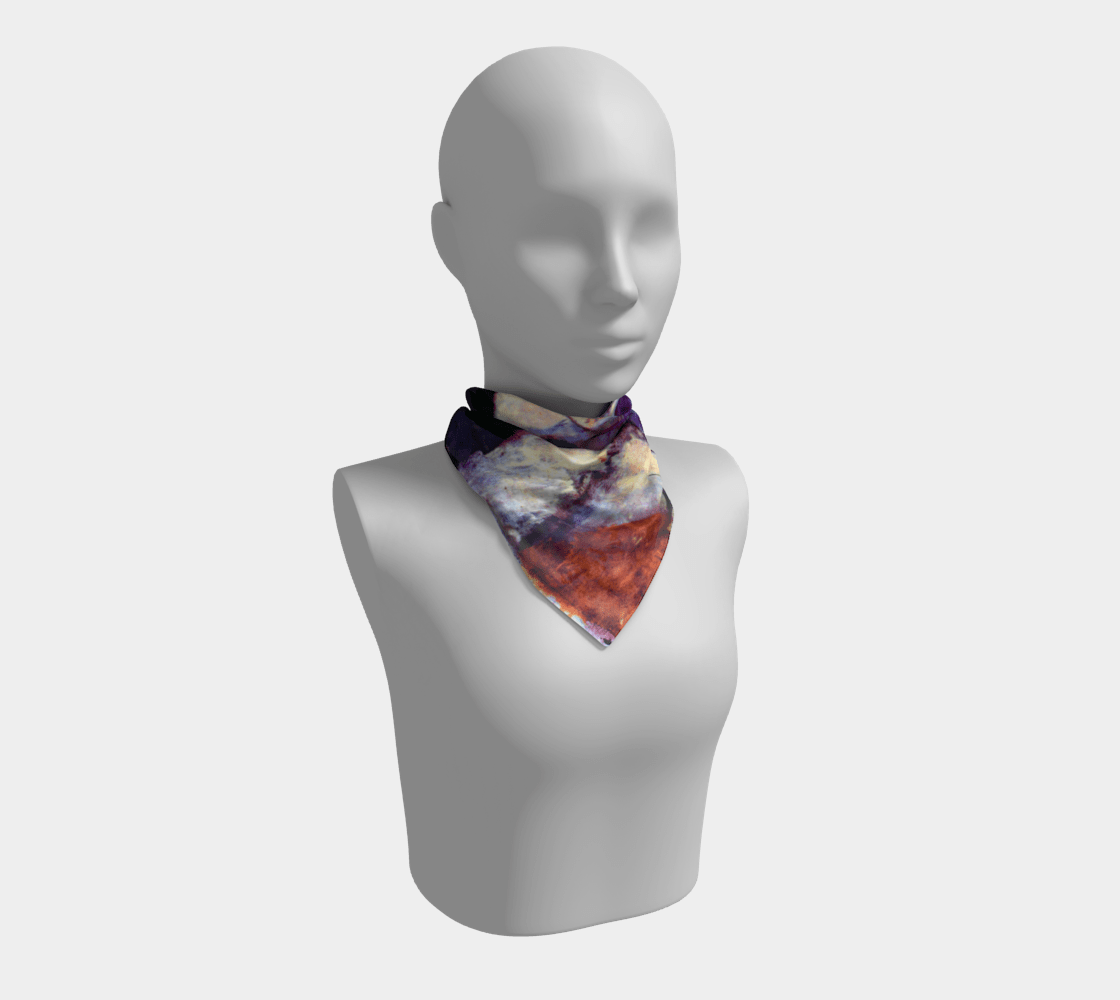 #Modigliani Dragon Violet Girl Scarf