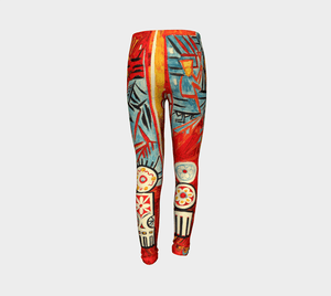 The Rooster by Natalia Goncharova #BeArtCurious Youth Leggings