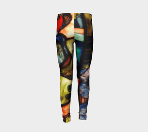 Stained Glass by Toulouse-Lautrec #BeArtCurious Youth Leggings