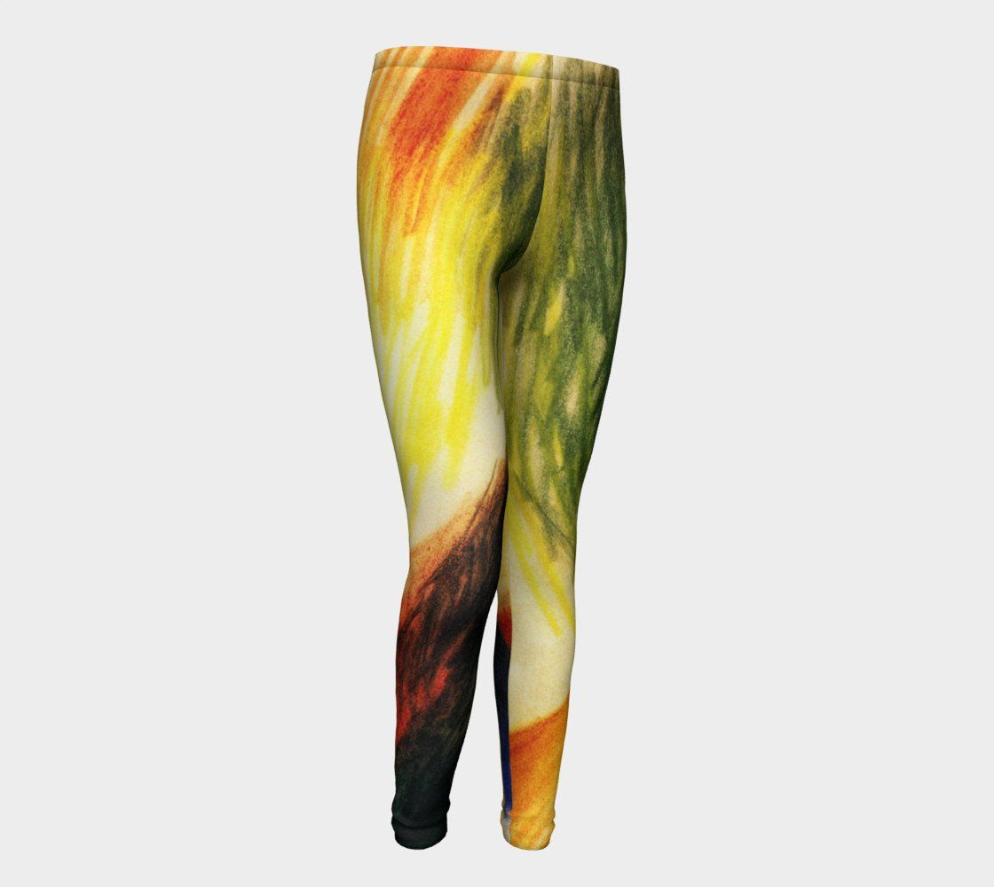 Abstract Form 14 by August Macke #BeArtCurious Youth Leggings