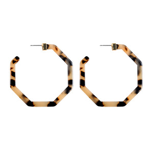 The Evermore Hex Earrings Faux Tortoise Earrings Faux Tortoise   - Super Cool Supply Store