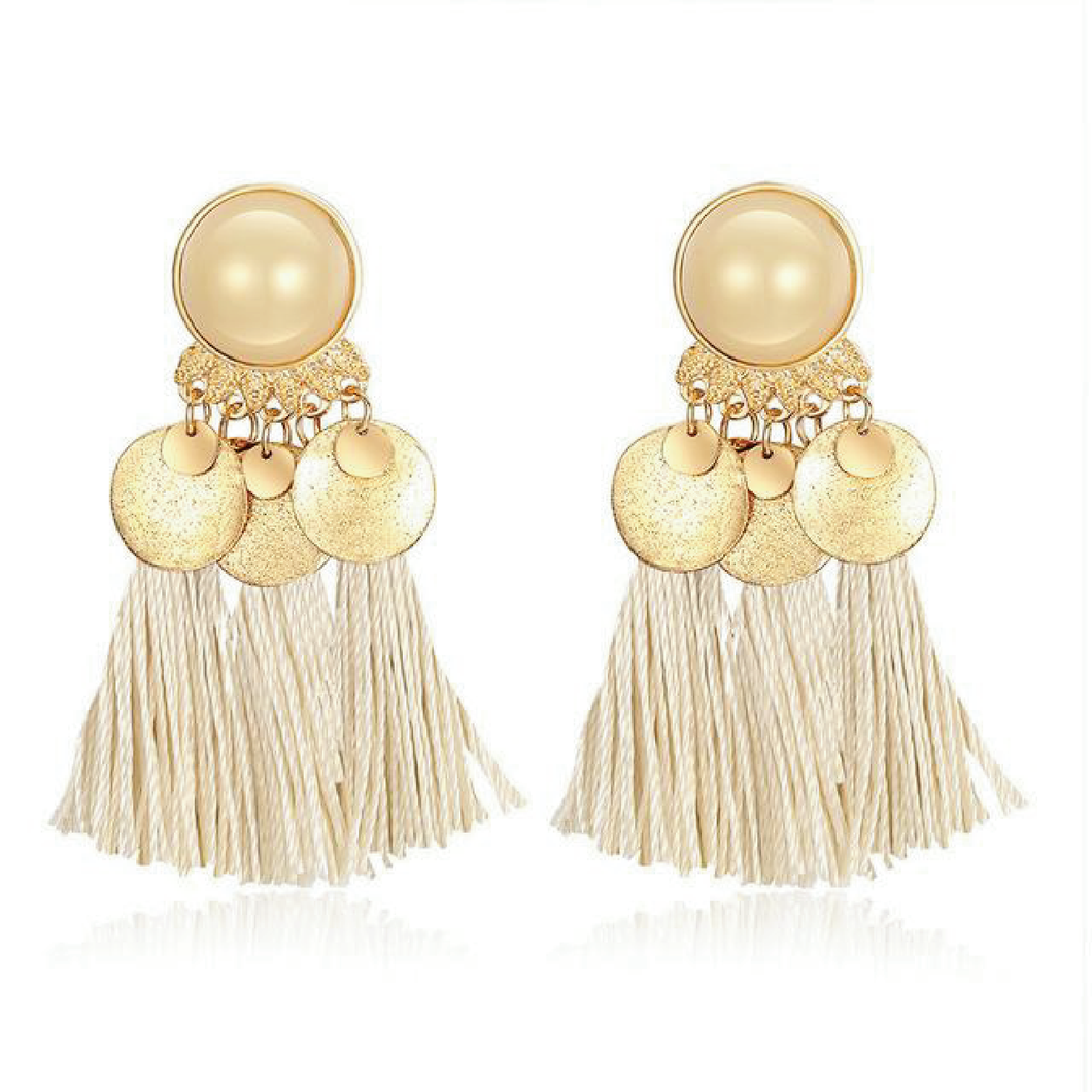 The Barrada Earrings White Earrings White   - Super Cool Supply Store