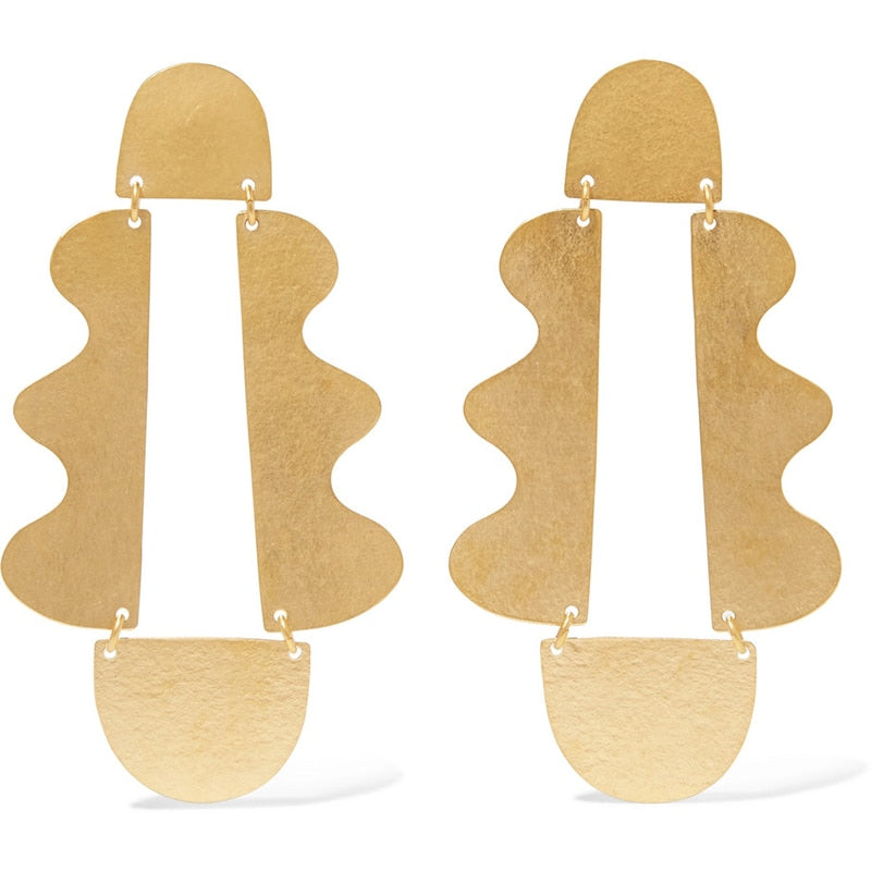 The Evermore Wave Earrings Gold Earrings Gold   - Super Cool Supply Store