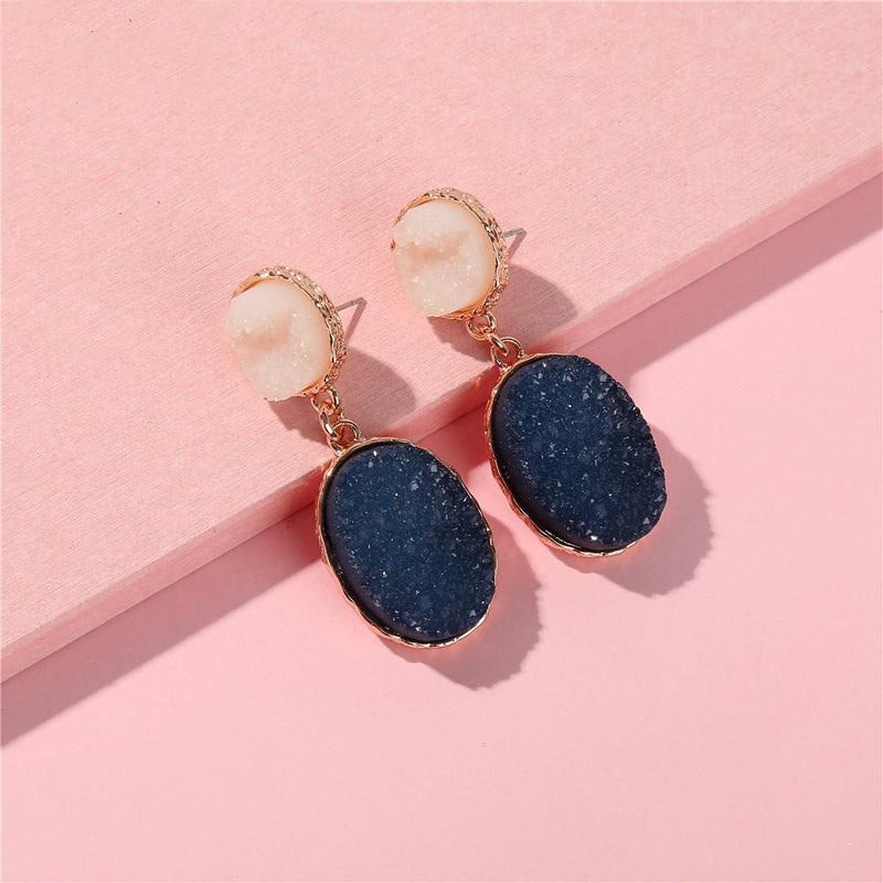 The Clark Drop Earrings Navy Earrings Navy   - Super Cool Supply Store
