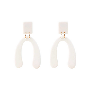 Half Bone Earrings