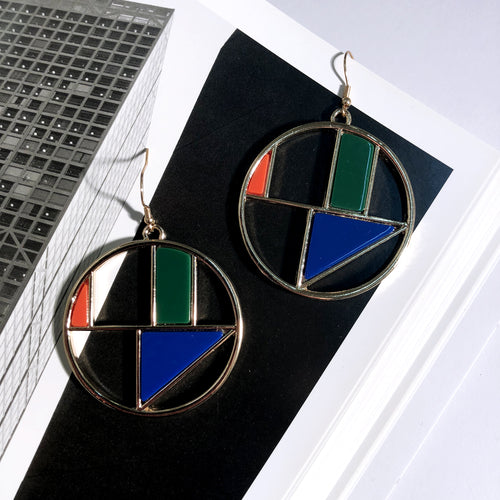 The Bauhaus Earrings  Initial Run    - Super Cool Supply Store