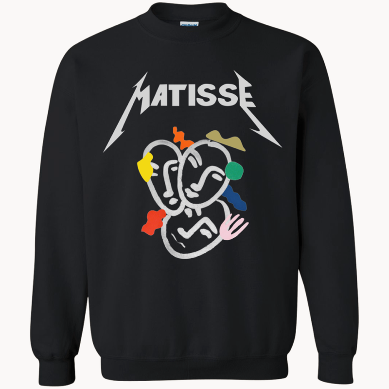 Matisse Boyfriend Sweatshirt Black Small Sweatshirts Small   - Super Cool Supply Store