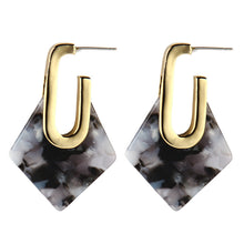 The Diamond Drop Earrings Black Earrings Black   - Super Cool Supply Store