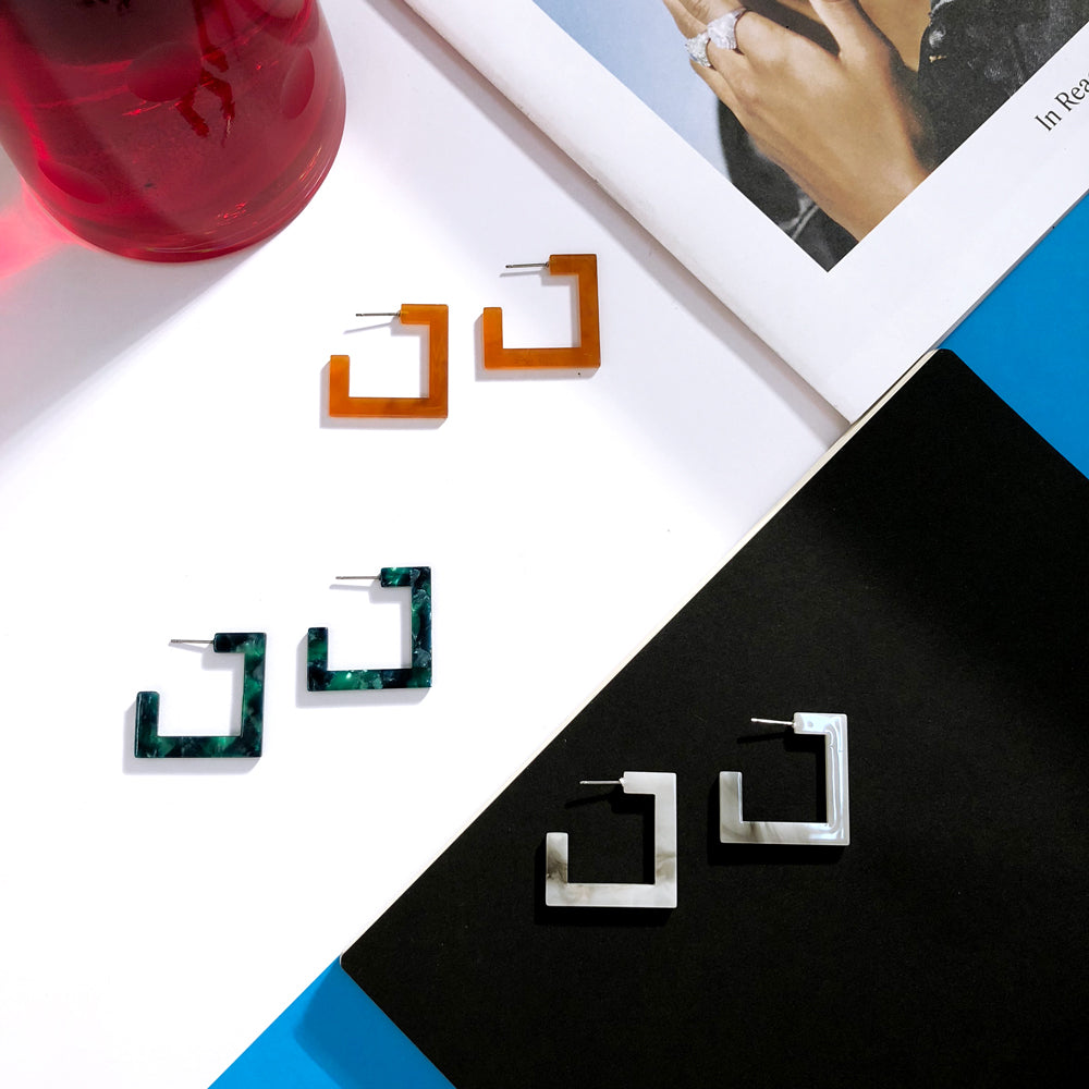 Sorta Square Earrings  Earrings    - Super Cool Supply Store