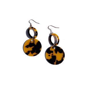 Tandem Tortoise Earrings