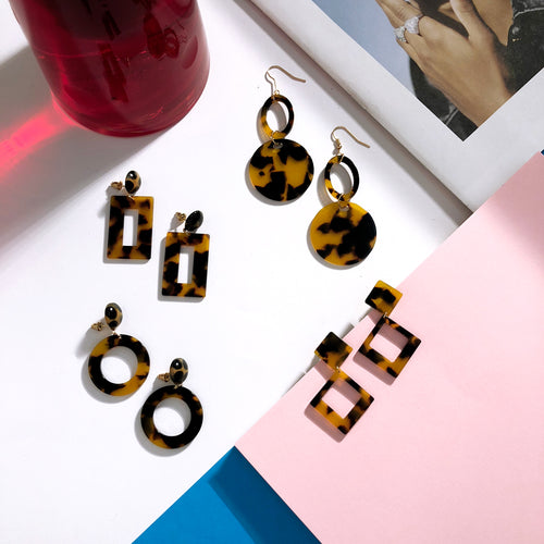 Tandem Tortoise Earrings  Earrings    - Super Cool Supply Store