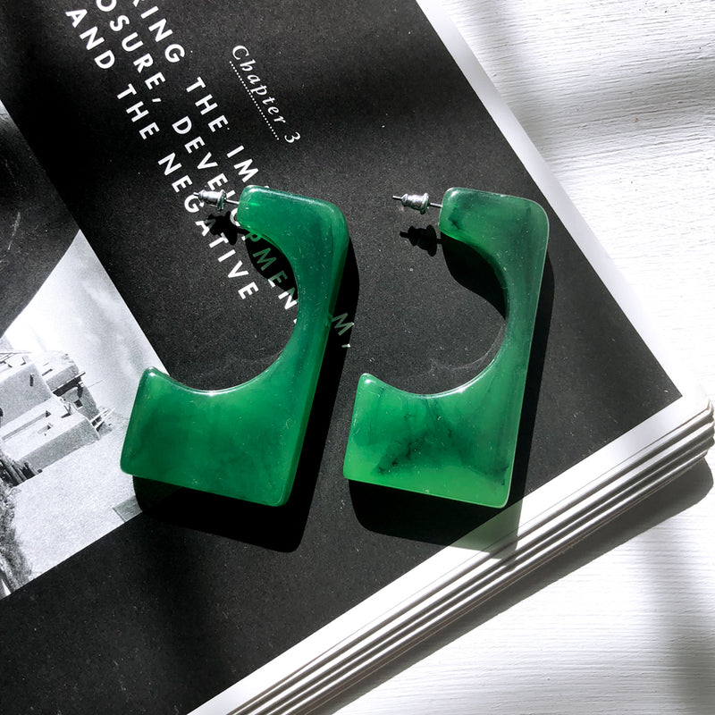The Bella Earrings Green Earrings Green   - Super Cool Supply Store