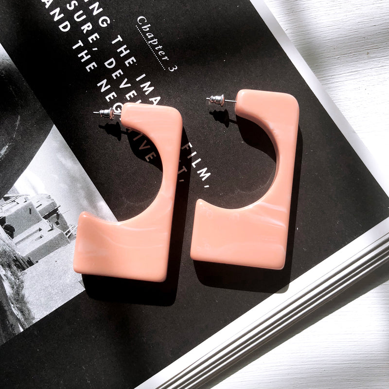 The Bella Earrings Pink Earrings Pink   - Super Cool Supply Store