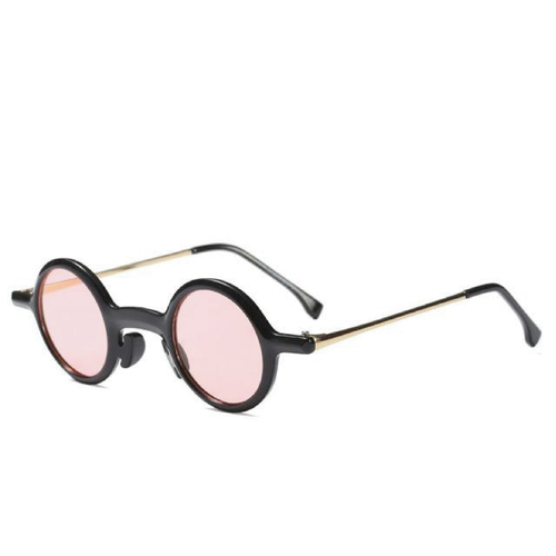 The Lennon Sunglasses Black Frame Pink Lense Sunglasses Black Frame Pink Lense   - Super Cool Supply Store