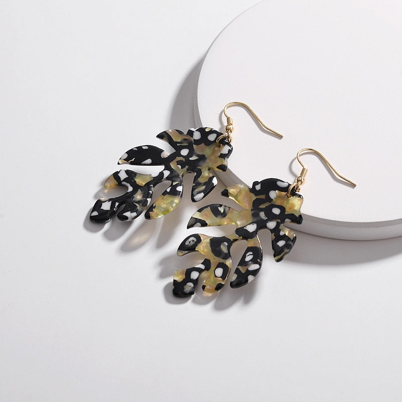 The Leopard Leaf Earrings Gold Earrings Gold   - Super Cool Supply Store