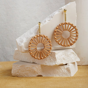 The Evermore Wood Circle Earrings  Earrings    - Super Cool Supply Store