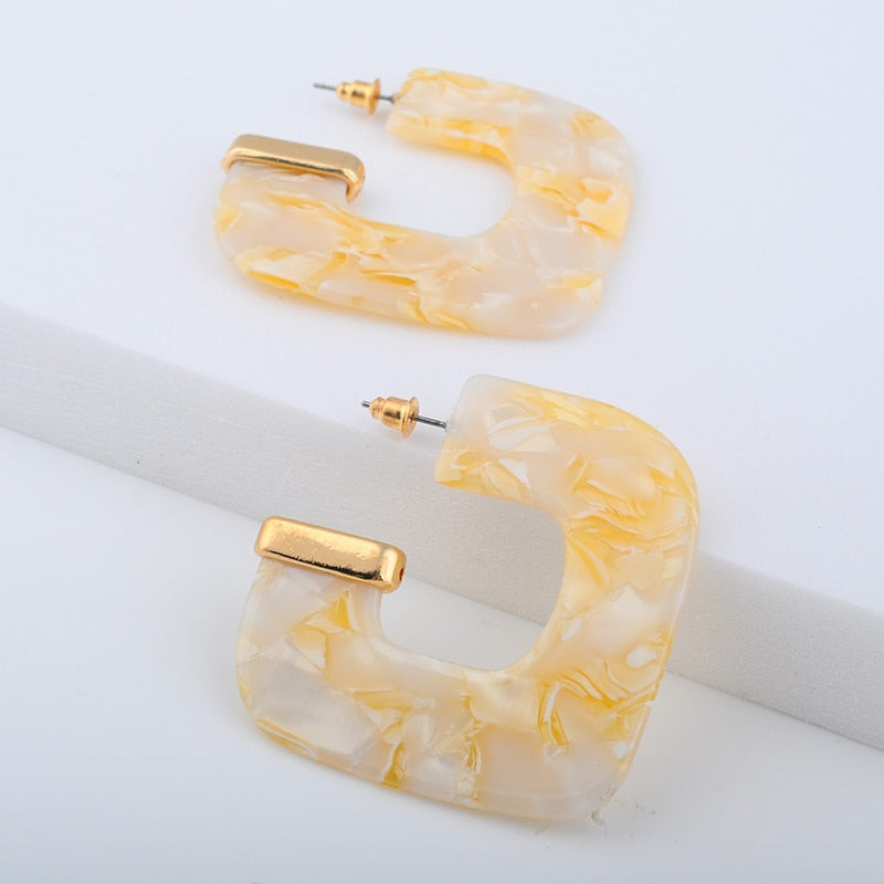 The Evermore Cee Hoop Earrings Gold Earrings Gold   - Super Cool Supply Store