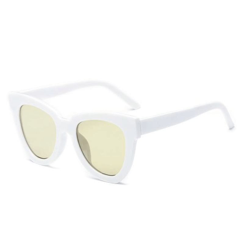 The De Sol Sunglasses White Yellow Sunglasses White Yellow   - Super Cool Supply Store