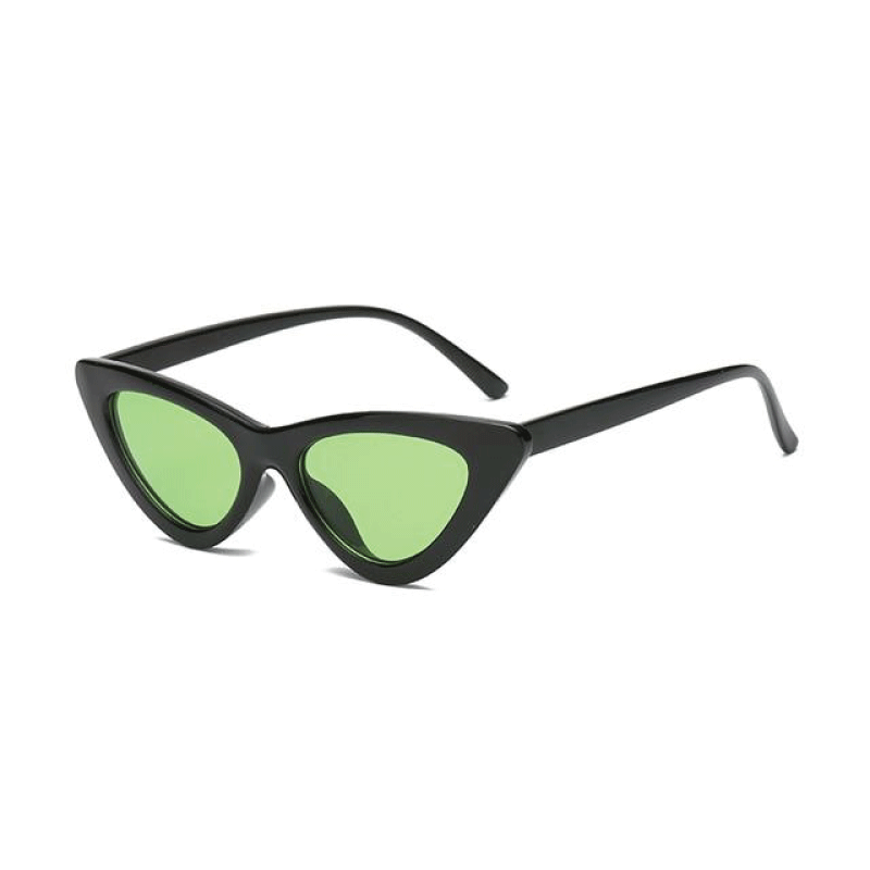 The Kitten Sunglasses Black Frame Green Lens Sunglasses Black Frame Green Lens   - Super Cool Supply Store