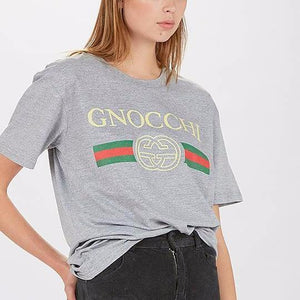 Gnocchi Grey Marle Tee  T-Shirts    - Super Cool Supply Store