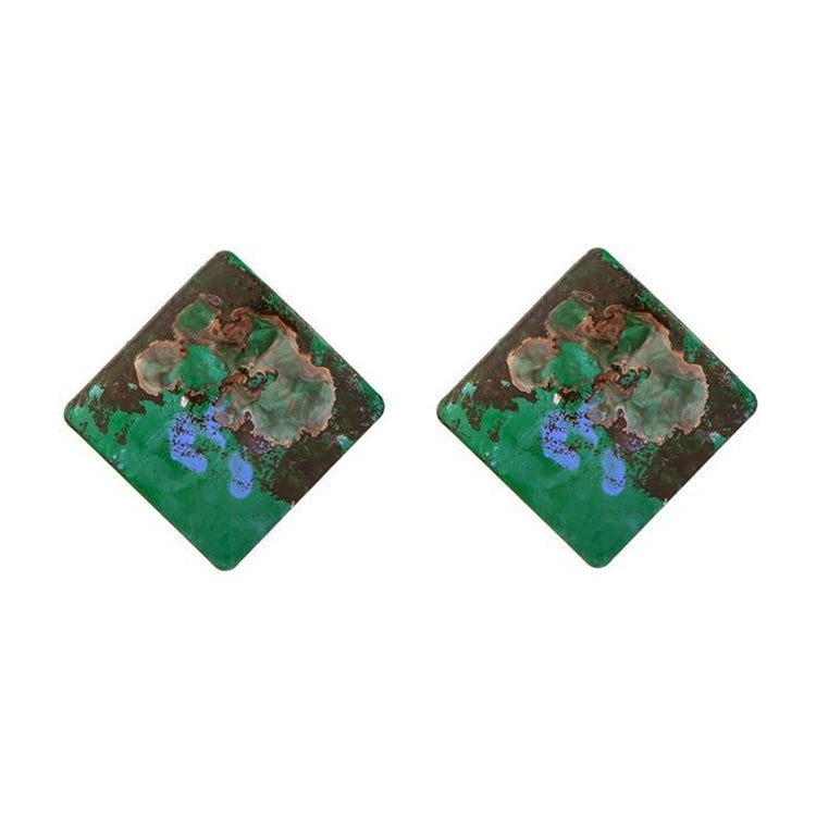 The Evermore Hyper Colour Earrings Green Earrings Green   - Super Cool Supply Store