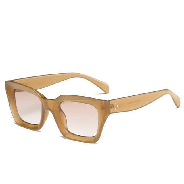 The Oblong Sunglasses Tan Frame Sunglasses Tan Frame   - Super Cool Supply Store