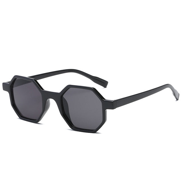 The Octagon Sunglasses Black Frame Black Lens Sunglasses Black Frame Black Lens   - Super Cool Supply Store