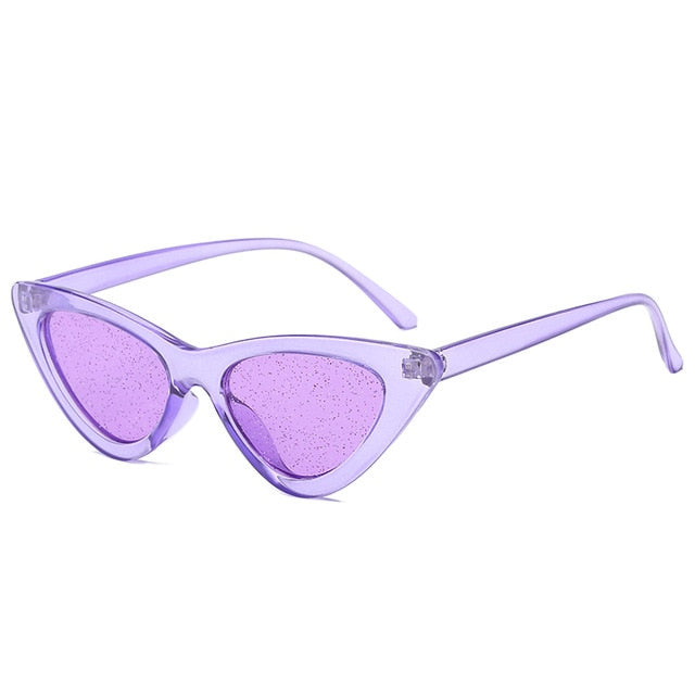 The Glitter Sunglasses Purple Frame Purple Lens Sunglasses Purple Frame Purple Lens   - Super Cool Supply Store