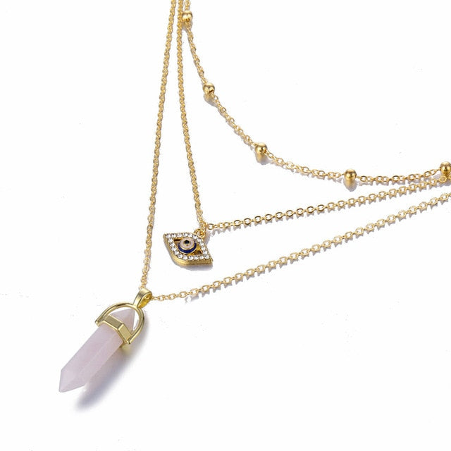 The Riley Column Quartz Necklace