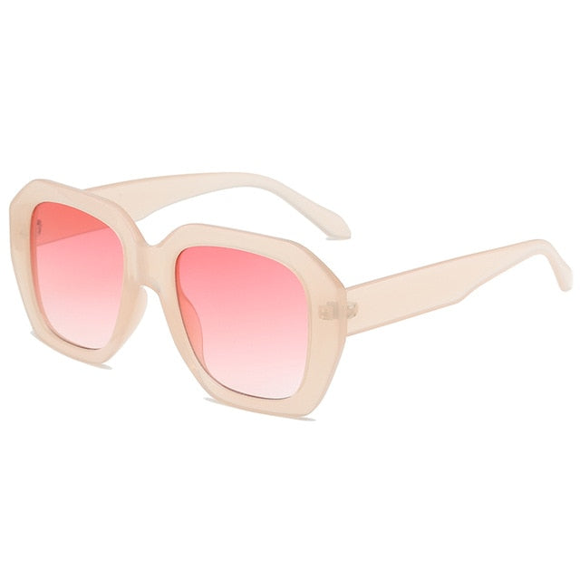 The Barney Sunglasses Beige Frame Pink Lens Sunglasses Beige Frame Pink Lens   - Super Cool Supply Store