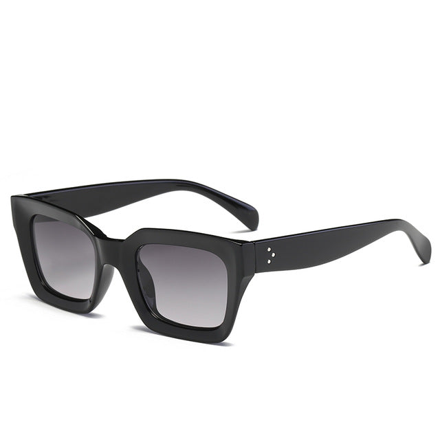 The Oblong Sunglasses Black Frame Fade Lens Sunglasses Black Frame Fade Lens   - Super Cool Supply Store