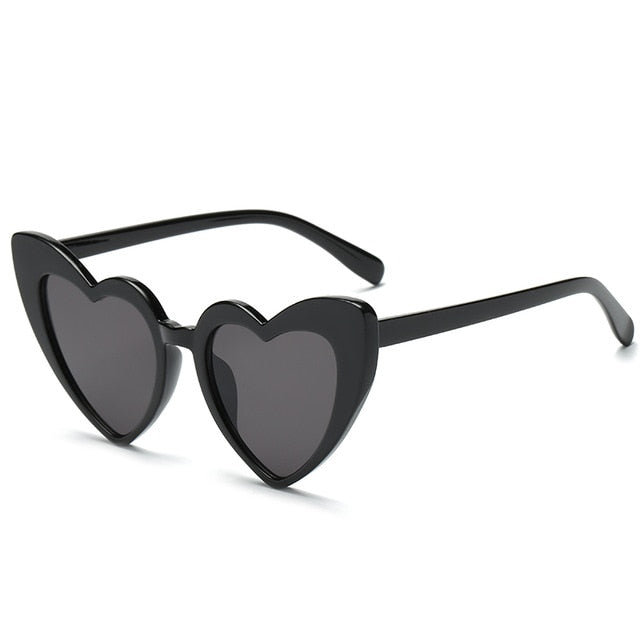 The Heart Sunglasses Black Frame Black Lens Sunglasses Black Frame Black Lens   - Super Cool Supply Store