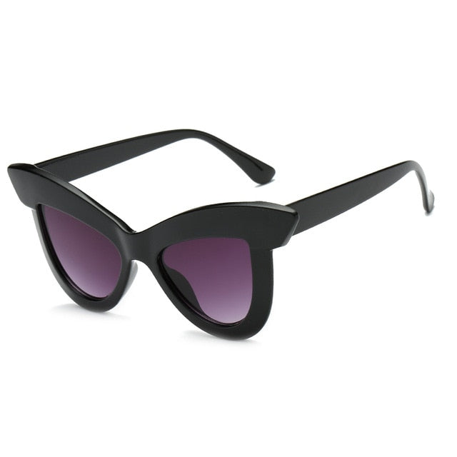 The Epica Singlasses Gloss Black Purple Lens Sunglasses Gloss Black Purple Lens   - Super Cool Supply Store