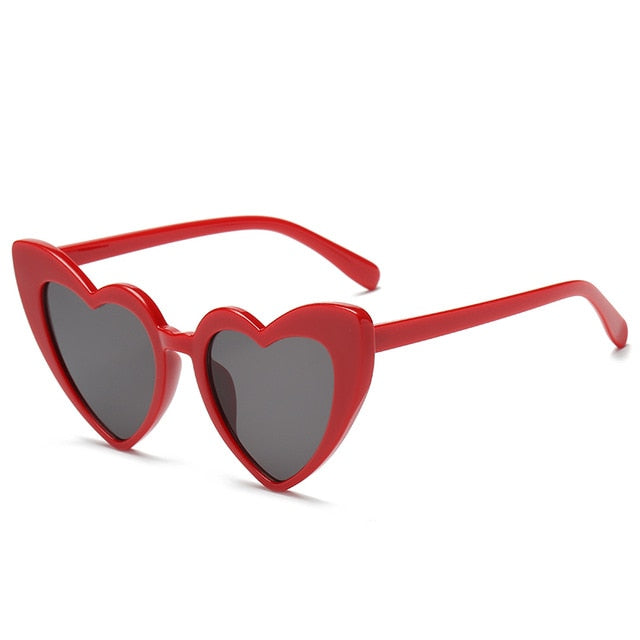 The Heart Sunglasses Red Frame Black Lens Sunglasses Red Frame Black Lens   - Super Cool Supply Store