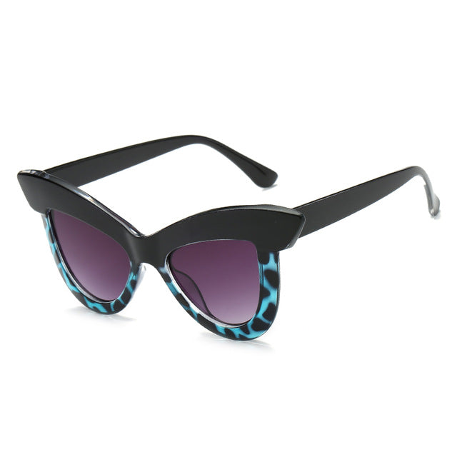 The Epica Singlasses Blue Leopard Sunglasses Blue Leopard   - Super Cool Supply Store