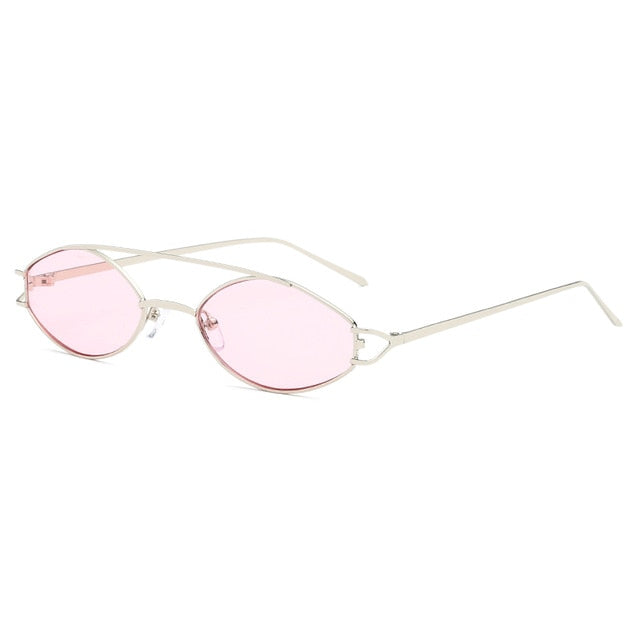 The Beam Sunglasses Silver Frame Pink Lens Sunglasses Silver Frame Pink Lens   - Super Cool Supply Store