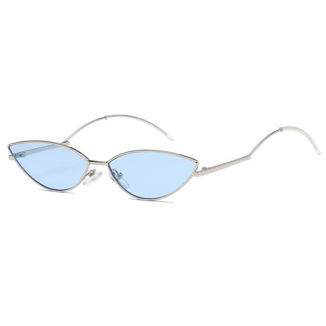 The Imprint Sunglasses Silver Frame Blue Lens Sunglasses Silver Frame Blue Lens   - Super Cool Supply Store
